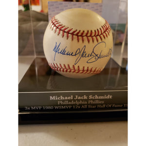 Michael Jack Schmidt Autographed Full Name Baseball PSA DNA COA