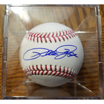 Pete Rose Autographed Baseball with COA and Ball Display
