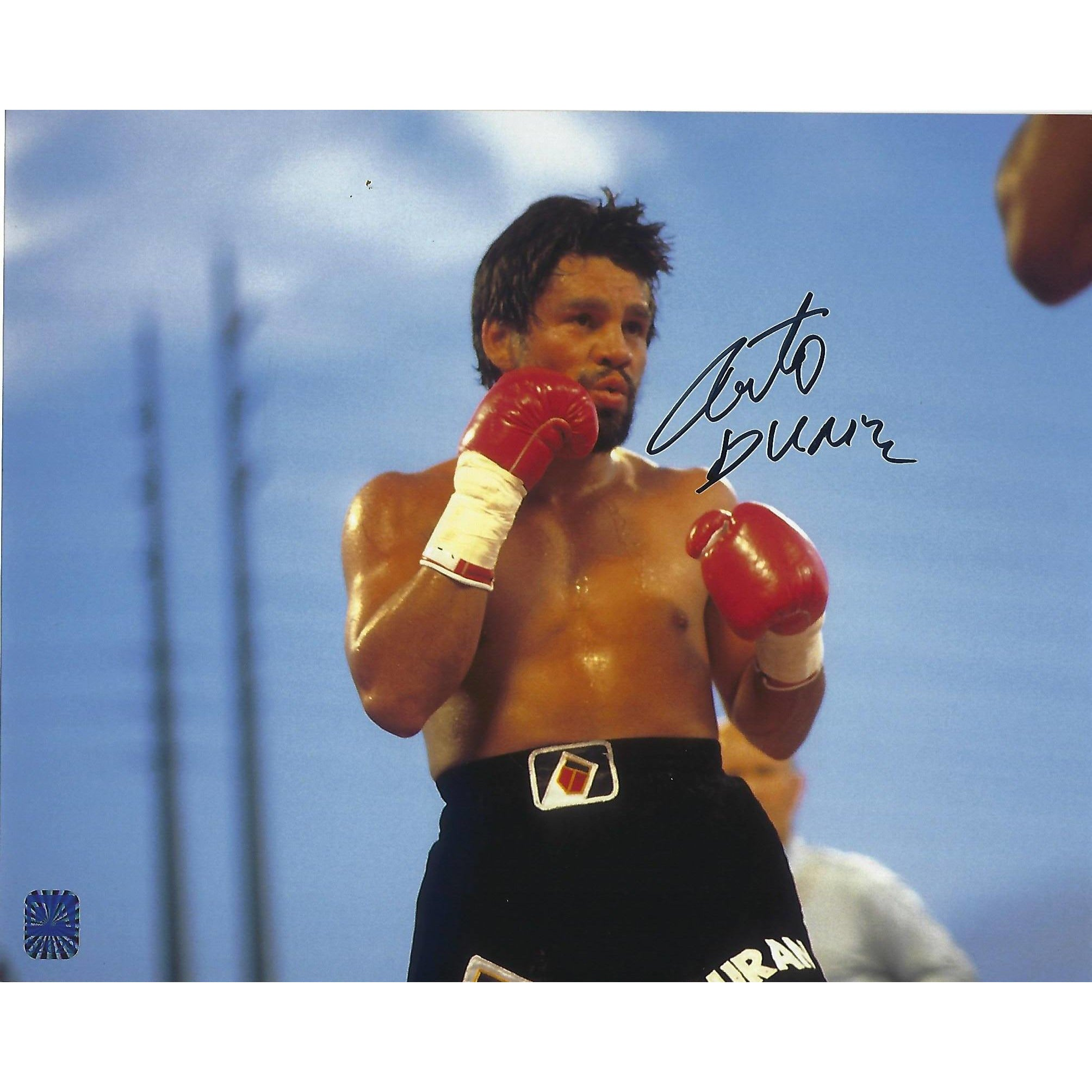 Roberto Duran Autographed 8x10 Framed Photo COA Boxing Champ