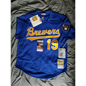 Robin Yount Autographed Milwaukee Brewers Mitchell & Ness JSA COA