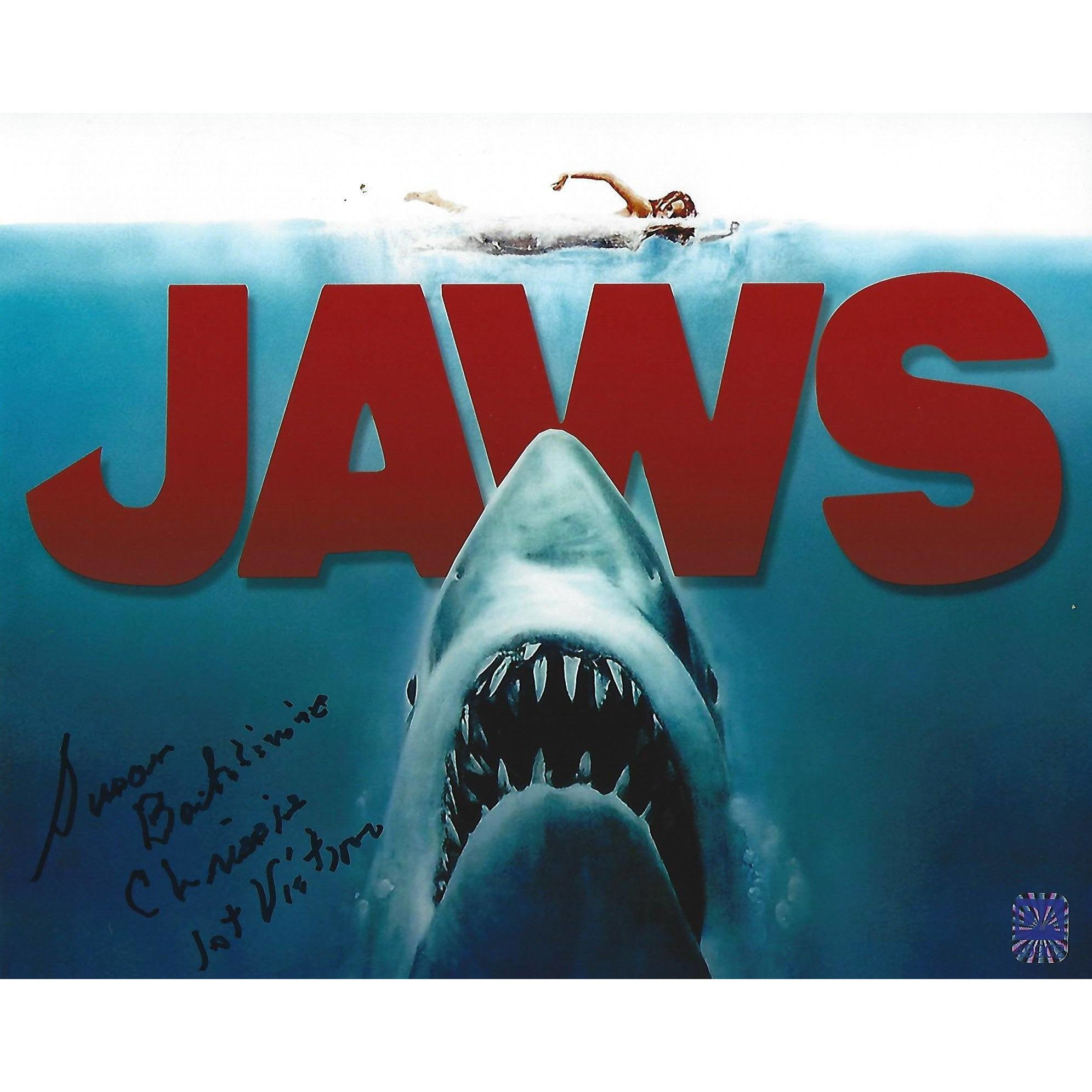 JAWS Susan Backline First Victim Autographed 8x10 Framed with COA