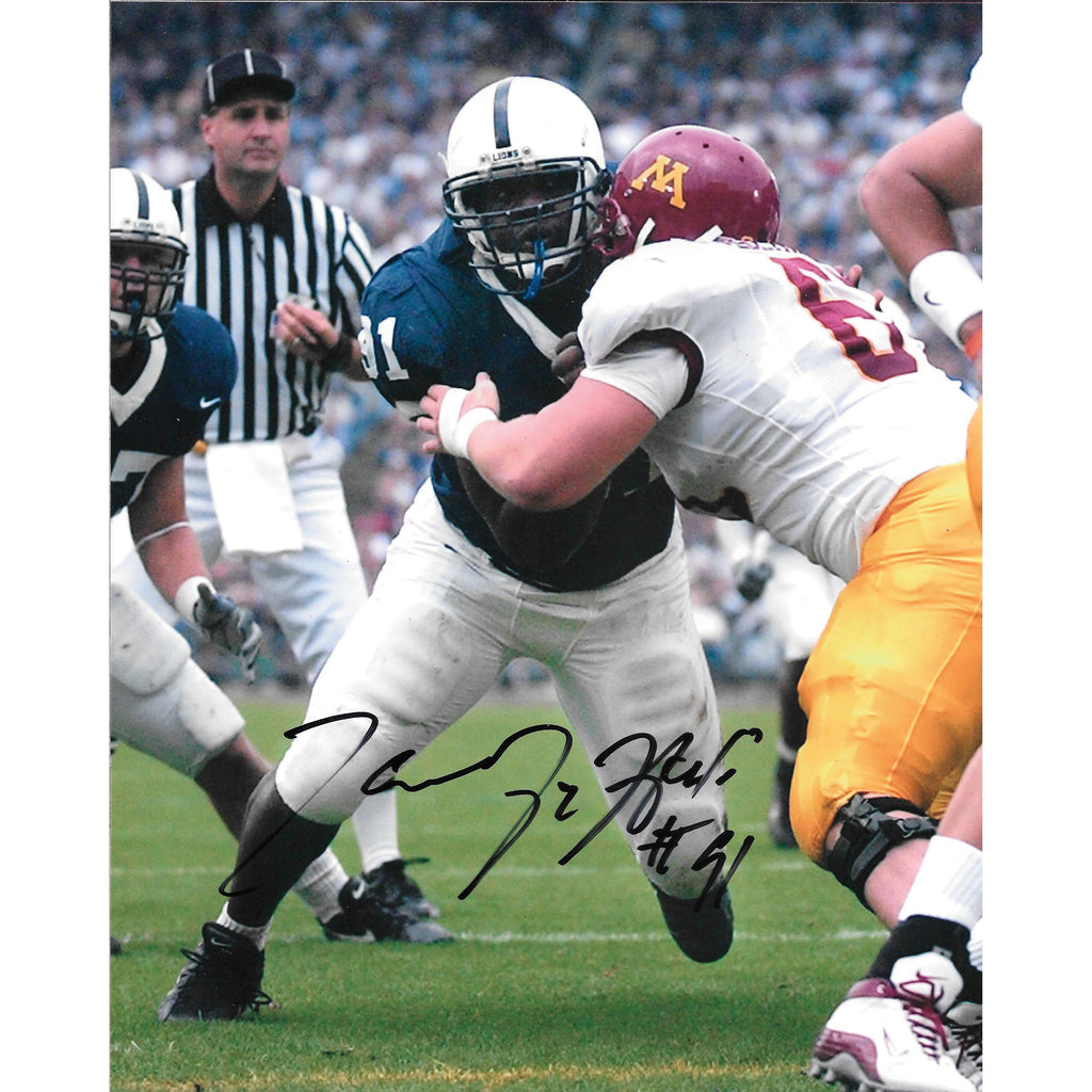 Tamba Hali 8x10 Framed Photo with COA Penn St PSU