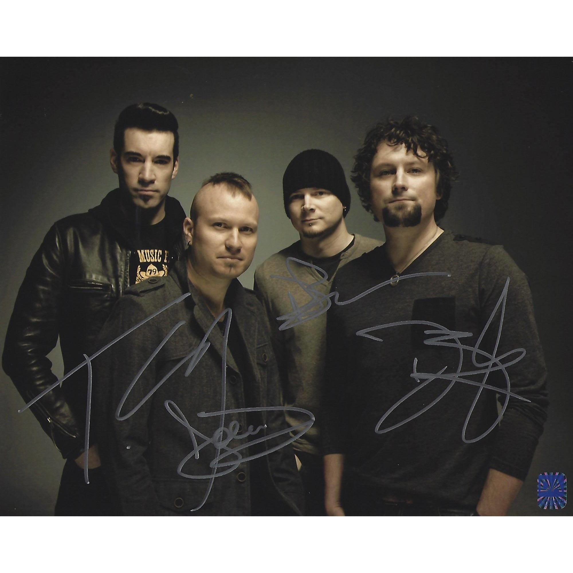 Theory Of A Deadman Autographed 8x10 Band Photo Framed COA Rock