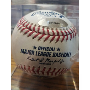 Tony La Russa #10 Autographed Baseball with COA and UV Ball Display