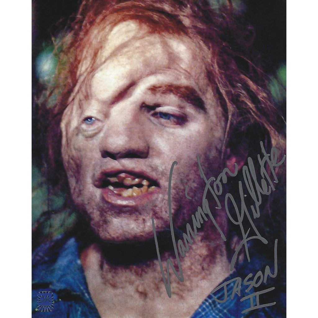 Warrington Gillette Jason II Autographed Inscribed 8x10 Photo COA