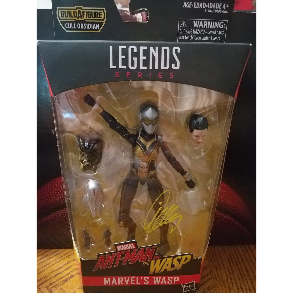 Wasp Action Figure Autographed By Evangeline Lilly COA Ant Man Wasp