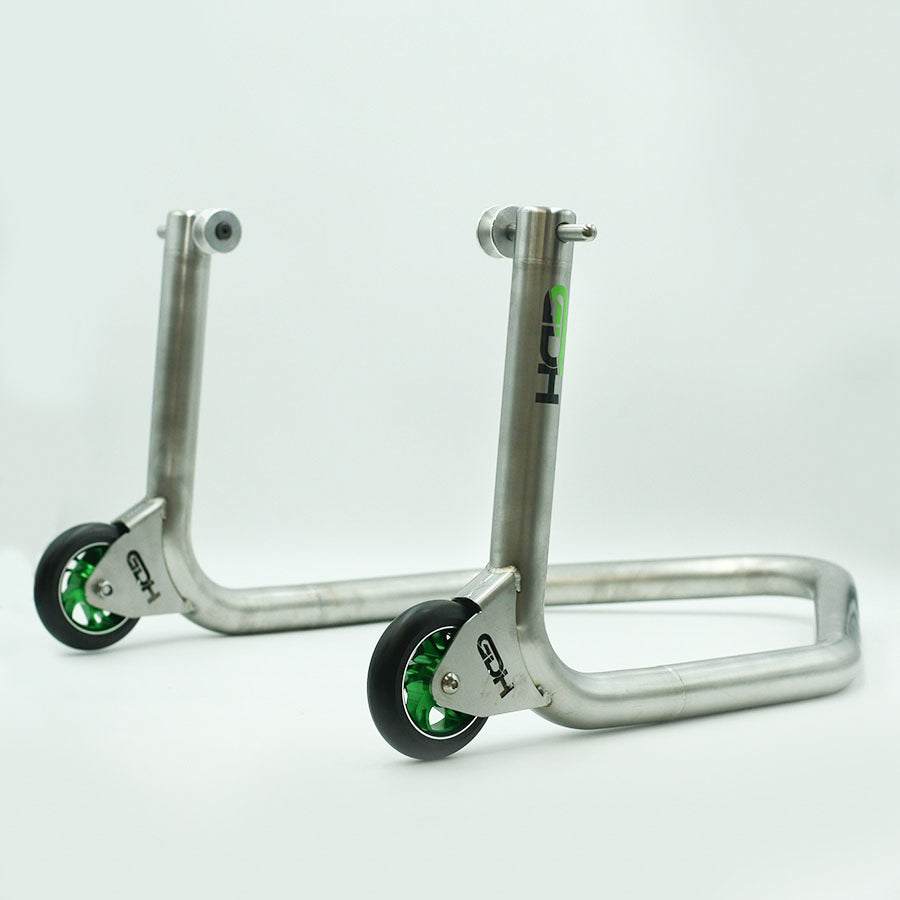 Stainless rear paddock stand