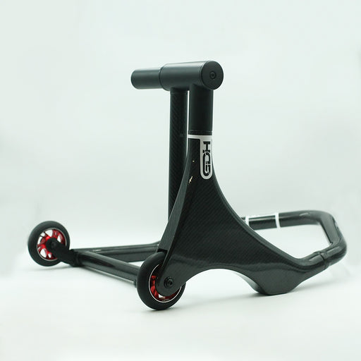 Carbon rear single sided paddock stand