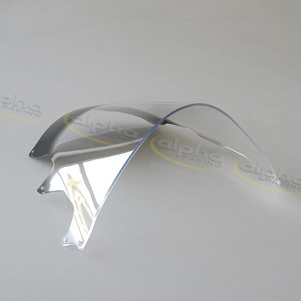 Wind screen Racing, short, strong bended, clear 15-18