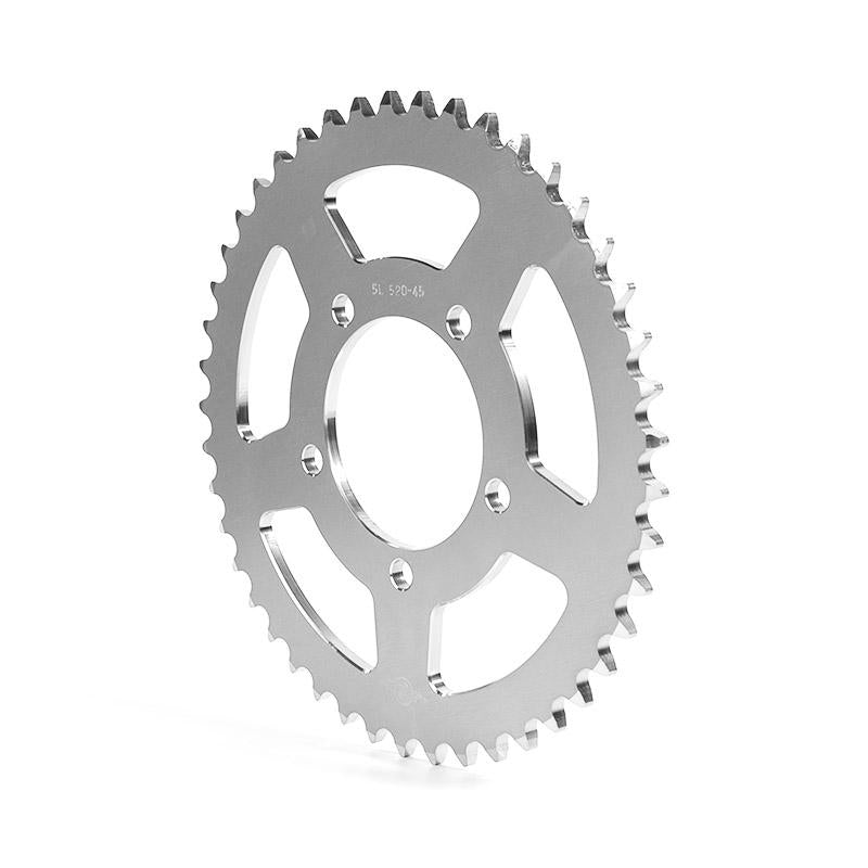 Sprocket Aluminium, silver, T46, pitch 520, HP rim