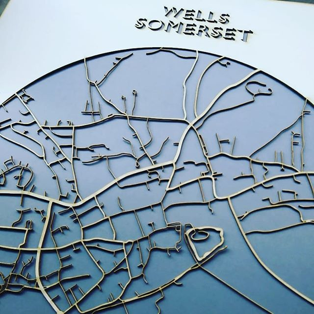 Lasercut Map - Wells