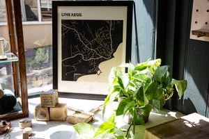 Lasercut Map - Lyme Regis