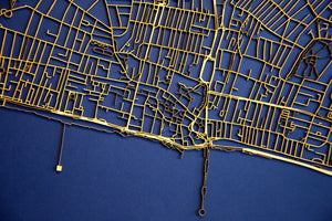 Lasercut Map - Brighton