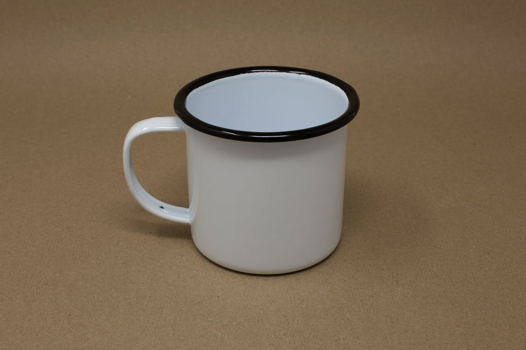 Enamel Mug - White & Black