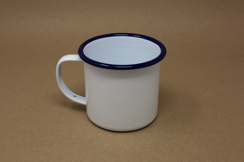 Enamel Mug - White & Blue
