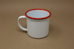 Enamel Mug - White & Red