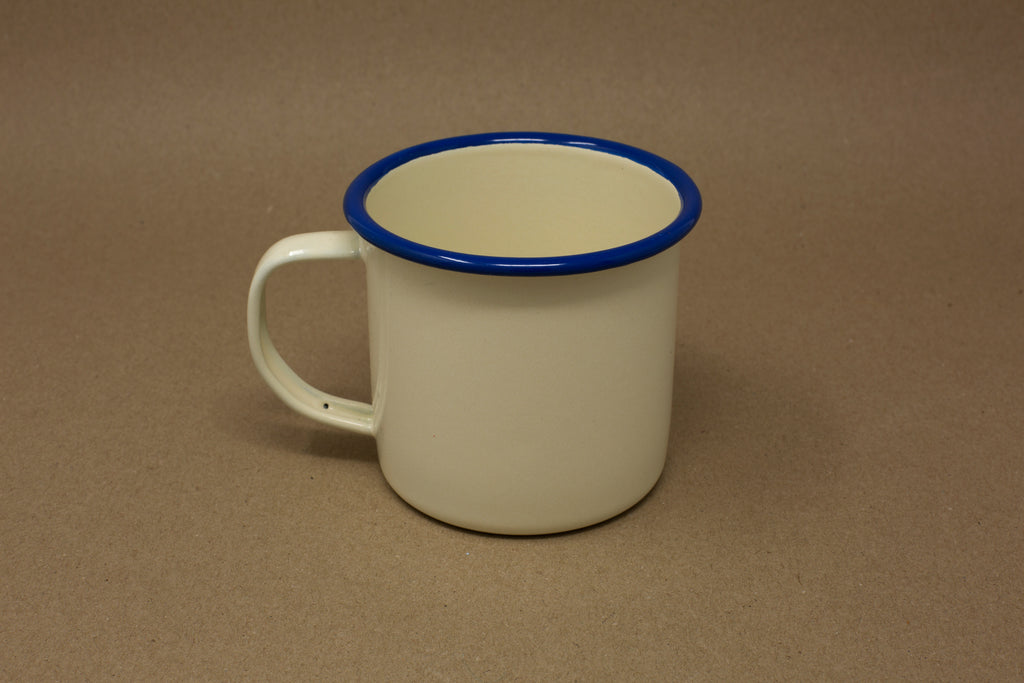 Enamel Mug - Cream & Blue