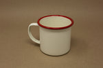 Enamel Mug - Cream & Red