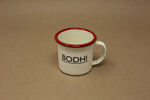 Enamel Espresso Mug - Red & White