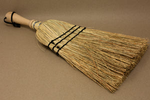 Rice Straw Hand Brush with Wooden Handle