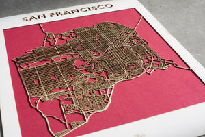Custom Lasercut Map
