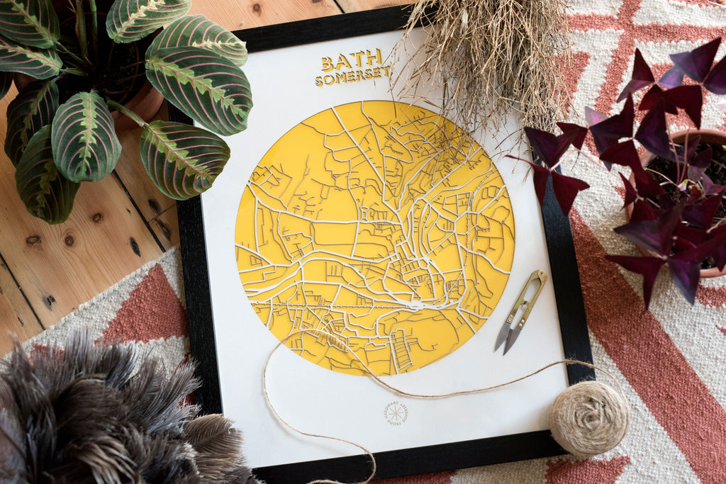 Lasercut Map - Bath