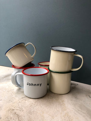 Laser engraved Enamel Mugs