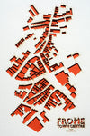 Lasercut Map - Frome Town centre