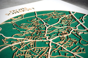 Lasercut Map - Frome