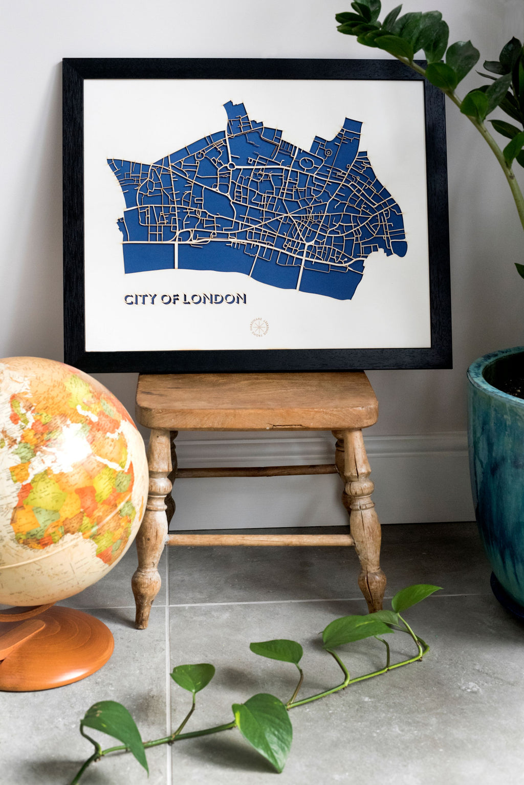 Lasercut Map - City of London