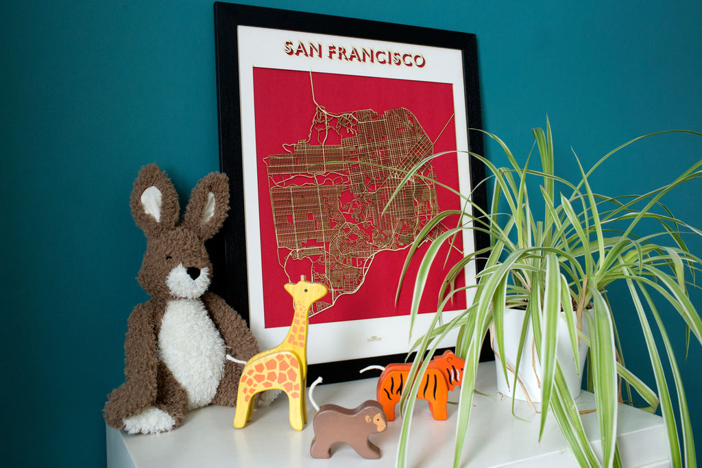 Lasercut Map - San Francisco