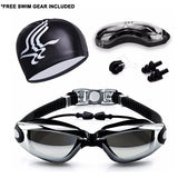 Professional Anti-Fog UV Swimming Goggles