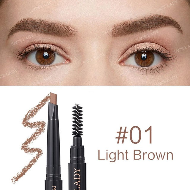 SACE LADY Eyebrow Pencil Makeup Professional Eye Brow Pen Make Up Tint Waterproof Eyebrow Paint Shade Natural Brand Cosmetics