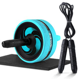 Roller&Jump Rope No Noise Abdominal Wheel Ab Roller with Mat  For Exercise Fitness Equipment Accessories Body Building