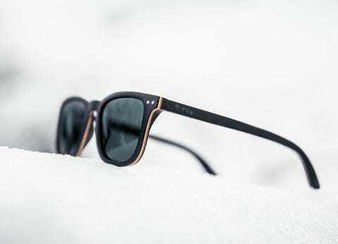 Laminated Wooden Sunglasses - Wood layers Shown