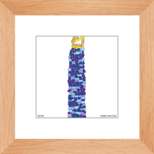 Blue Corn Framed Print