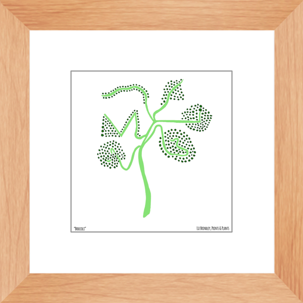Framed Broccoli Print