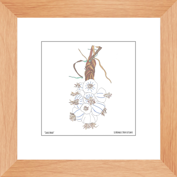 Framed Garlic Braid Art Print
