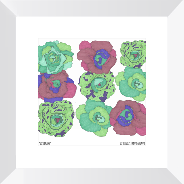 Framed Lettuce Art Print