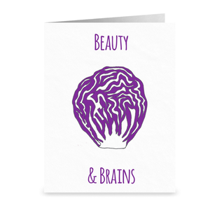 Purple Cabbage Greeting Cards