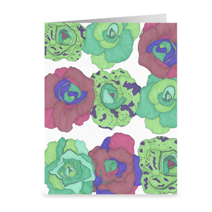 Little Gem Lettuce Greeting Cards | Blank Veggie Cards | Food Cards