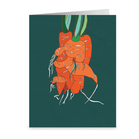 Tangled Carrot Cards Blank