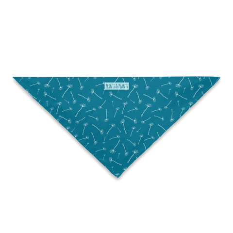Dandelion Wishes Bandana Dark Blue