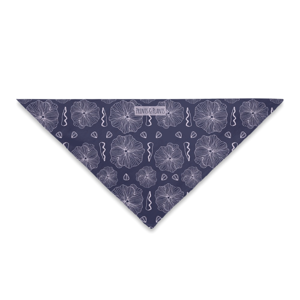 Purple Hollyhock Bandana WS