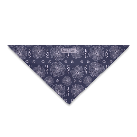 Hollyhock Bandana Purple