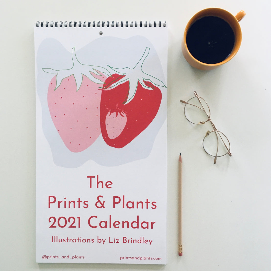 Prints & Plants 2021 Illustrated Wall Calendar