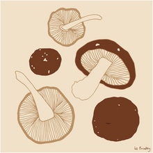 Load image into Gallery viewer, Shiitake Mushroom Print