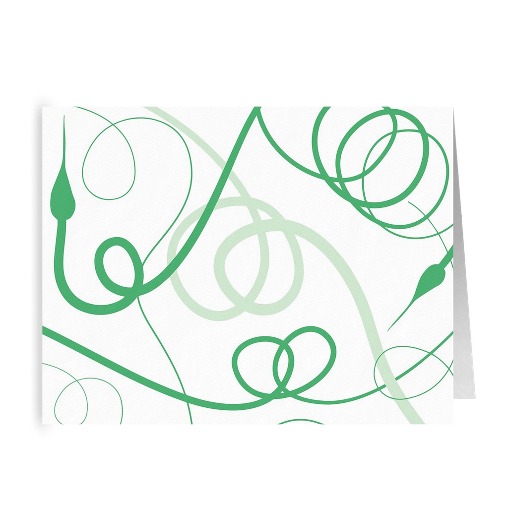 Garlic Scapes Greeting Card