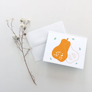 Butternut Squash Greeting Cards
