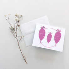 Load image into Gallery viewer, Daikon Radish Greeting Cards